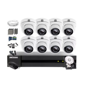 Kit sistem supraveghere analogic Hikvision 2 Mpx
